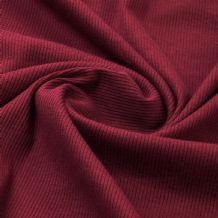 Wine - Plain 100% Cotton 2x1 Rib